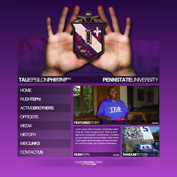 Tau Epsilon Phi Website Design