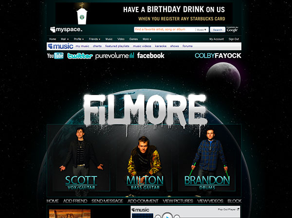 Filmore MySpace Design