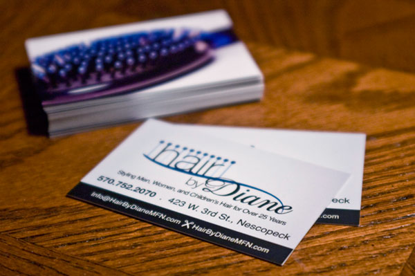 Hair by Diane Business Card
