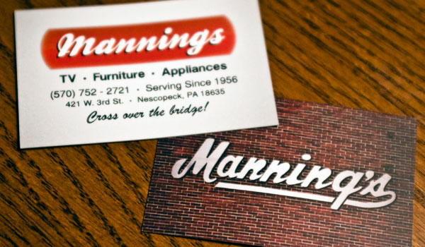 Manning's Business Card